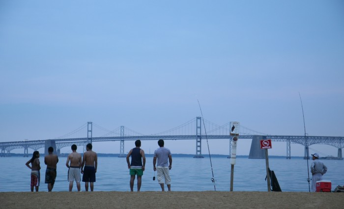 The Chesapeake Bay Bridge is quite charming from afar...