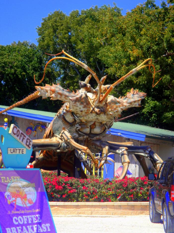 3. Betsy the Lobster and The Rain Barrel Artisan Village, Islamadora