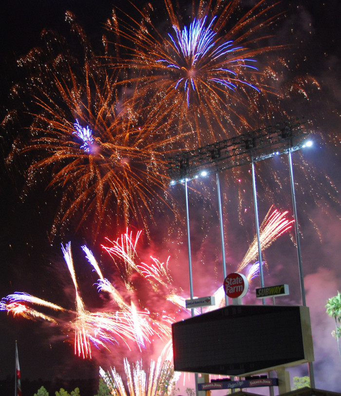 3. Friday Night Fireworks at Dodgers Stadium