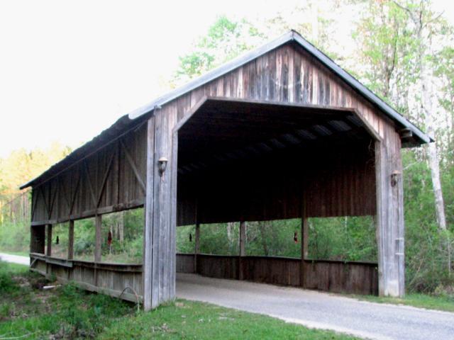 6. Spanning 59', this covered bridge is located on Don Burge Rd. in McNeill.