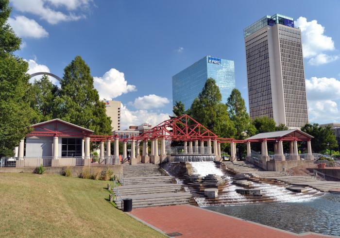 6.Kiener Plaza Waterfall, St. Louis