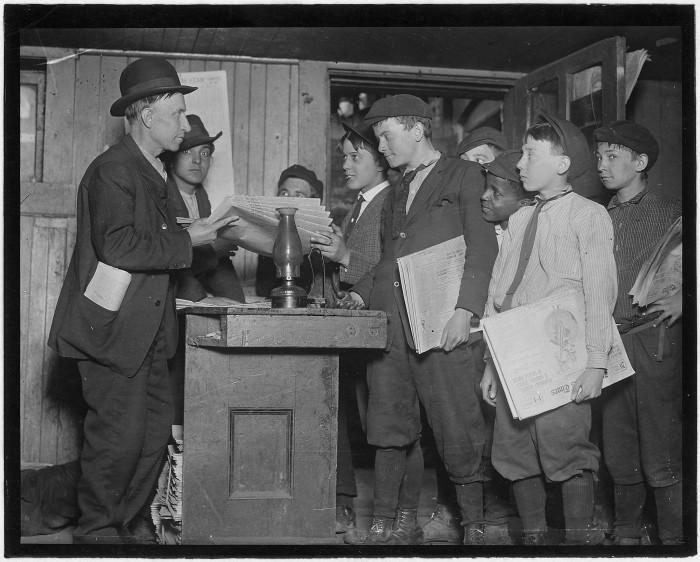 6.Burn's basement branch in a dark dirty cellar. St. Louis, May 1910.