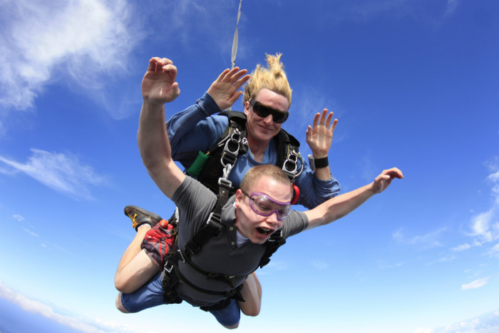 6. Why not try skydiving over Oahu's north shore?