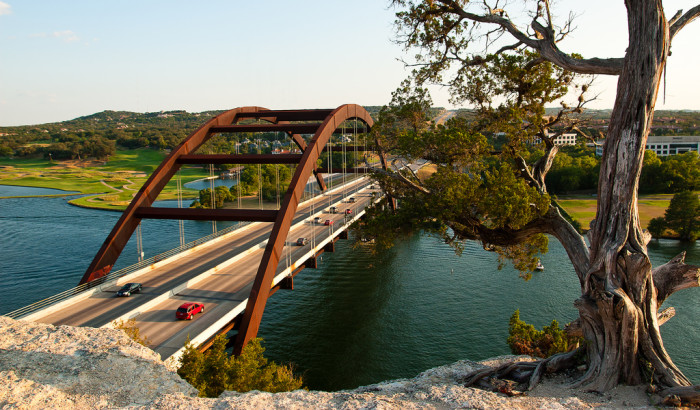 3. Austin's 360 bridge that gets tons of traffic everyday - Not a bad view!