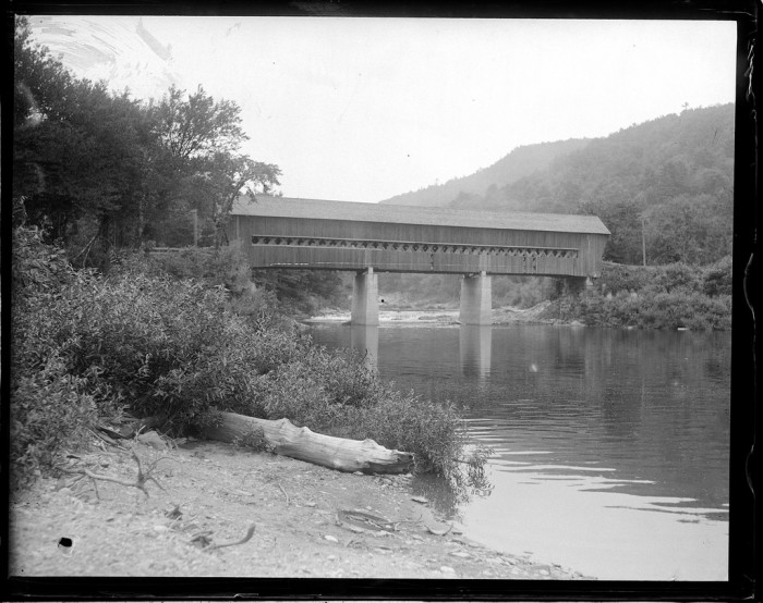 5. This photo shows a New Hampshire covered bridge in its hay day.
