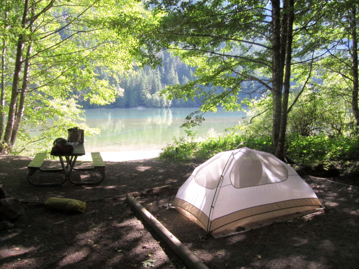 11. Go on a camping trip.