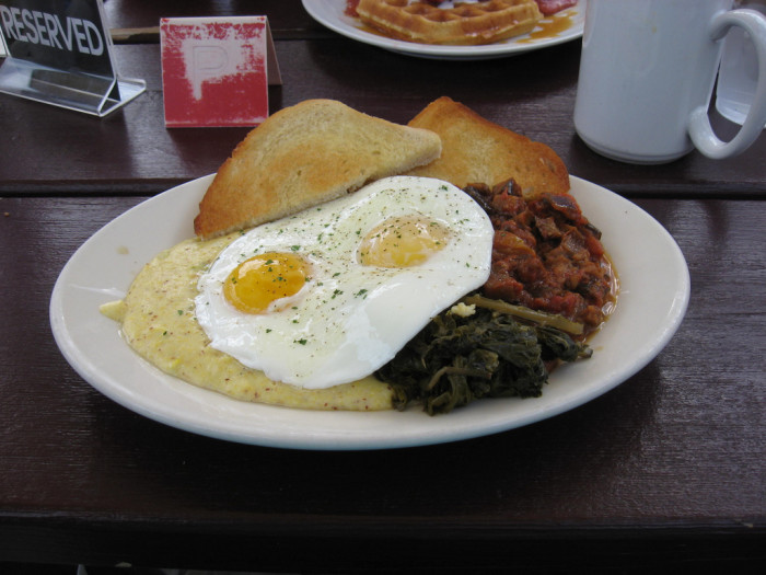 1. First things first, you start off with a hearty breakfast.