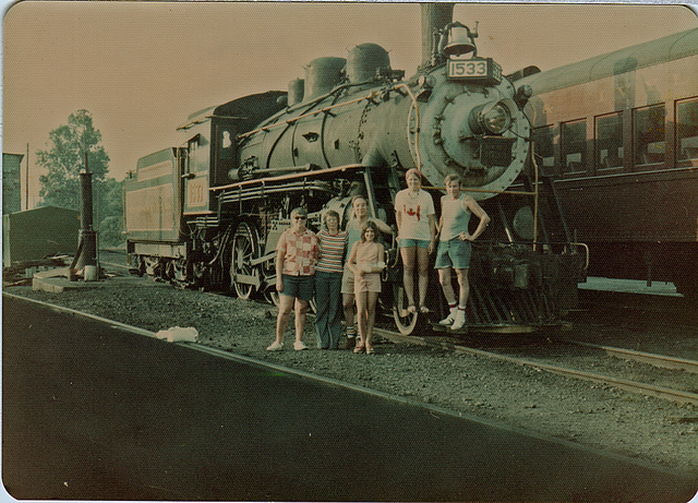 8. The New Hope & Ivyland Railroad Engine in August, 1975.