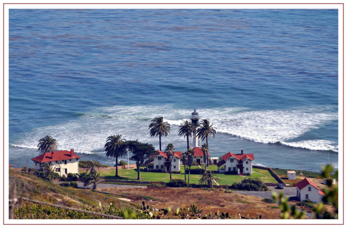 8. The view of the New Point Loma Lighthouse surrounded by palm trees is a classic SoCal shot that would be a hit in any movie.