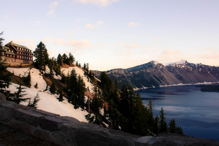 One option is to stay the night at the Crater Lake Lodge, which is located right on the edge of the lake. You can also camp or stay at a nearby hotel.