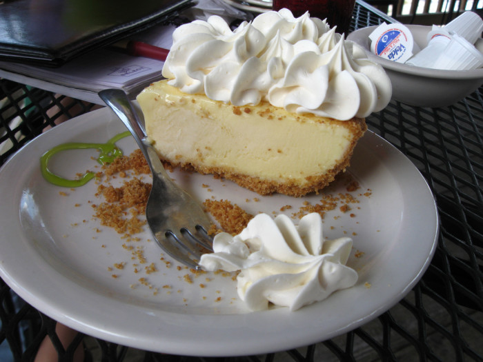 Finally, grab some grub, and make sure you end the day with a slice Key lime pie.