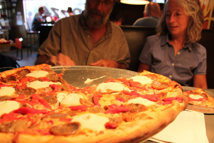 2. Homeslice serves up huge slices of pizza with ultra fresh ingredients, located in the famous SoCo district.
