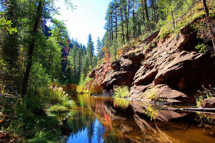7. Go for a hike in Oak Creek Canyon.