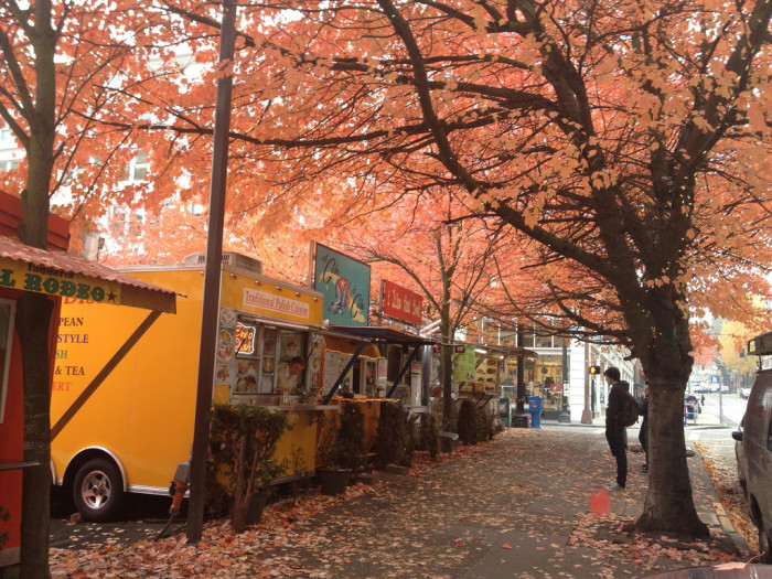 6. Grab a snack at one of Portland's Food Carts.