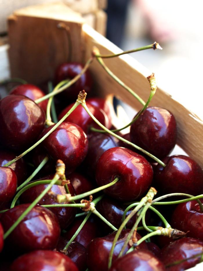 13. Pick a basket of fresh cherries.