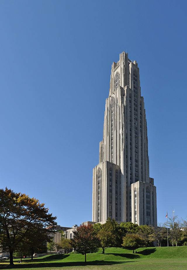 4. The Cathedral of Learning in Pittsburgh, Pennsylvania.