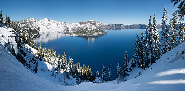 8. Crater Lake in Klamath County, Oregon.