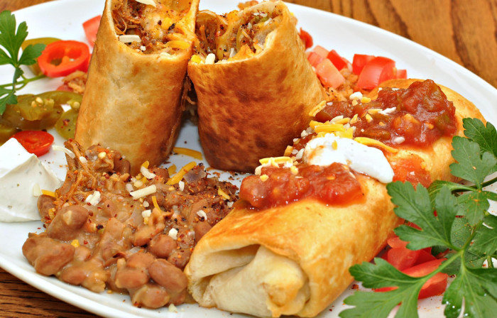 6. Hungry? Eat a chimichanga, a deep fried burrito rumored to have been invented in our state and often considered the unofficial state food.
