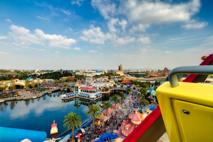 6. Is this place real or make believe? This vibrant view from the California Screamin' roller coaster at Disney California Adventure looks like it could be right out of an animated feature.
