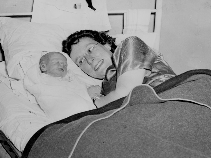 4. Back at home, some aspects of life carried on, like the birth of this baby in 1942.