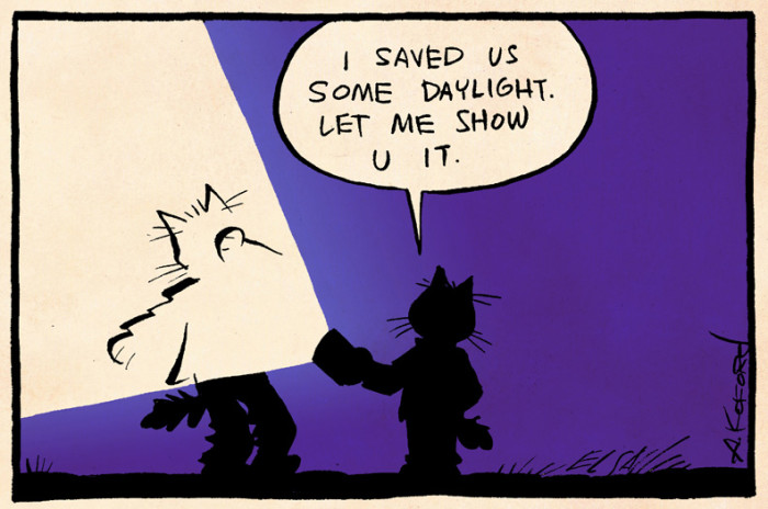 4. Worrying about Daylight Saving Time.