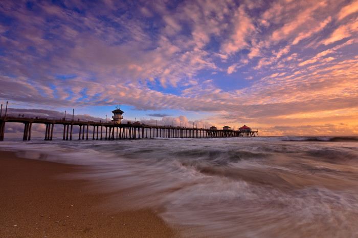1. Huntington Beach Pier coming to life after a heavy rain.