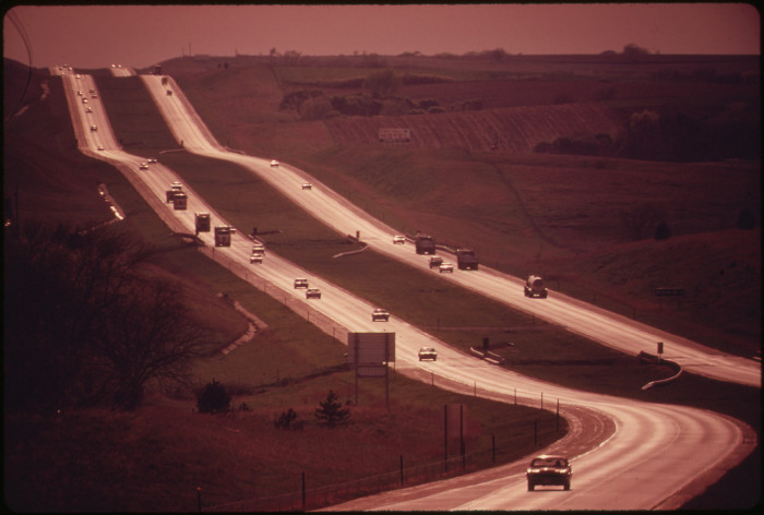 3. This is Interstate 80 near Lincoln back in May of 1973.