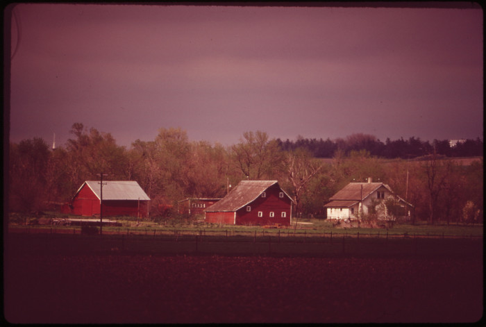 4. This farm near Schuyler looks so cozy and inviting. May 1973.
