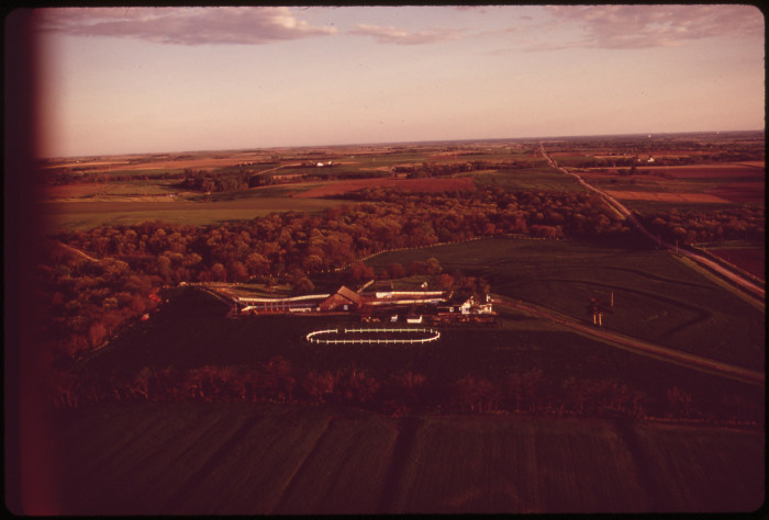 8. A bucolic farmlands landscape just west of Lincoln, May 1973.