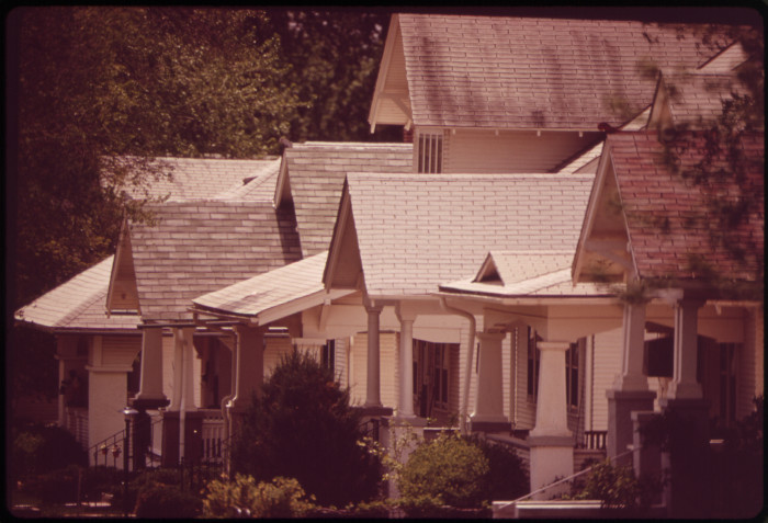15. A row of houses in Fairbury, May 1973.