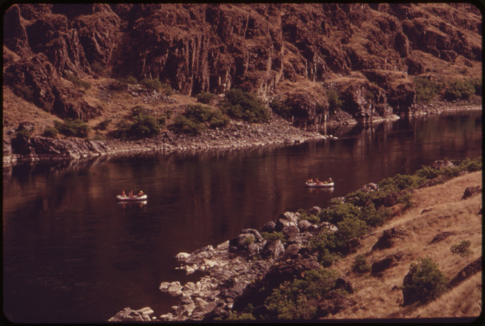 4. A quiet stretch of the Snake River near the Oregon border.