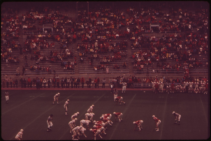 13. Memorial Stadium looked a bit less crowded back in May, 1973 than it does today.