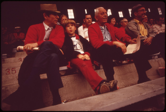 12. It looks like a fun family outing at the game, with what appears to be three generations of a family, May 1973.