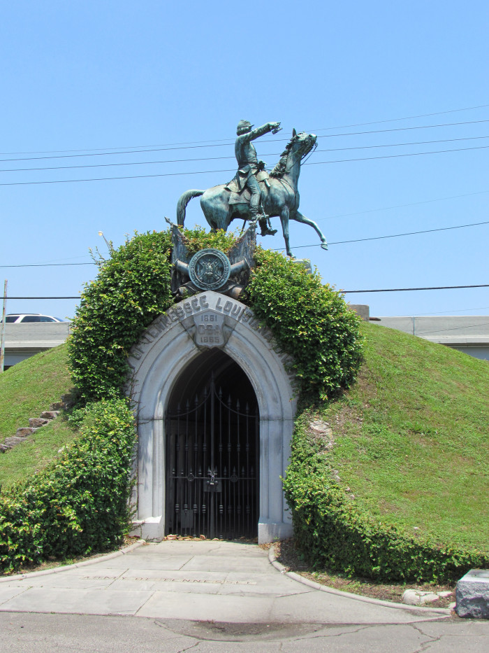 Metairie cemetery has the largest collection of marble  tombs and funeral statuary in the city.