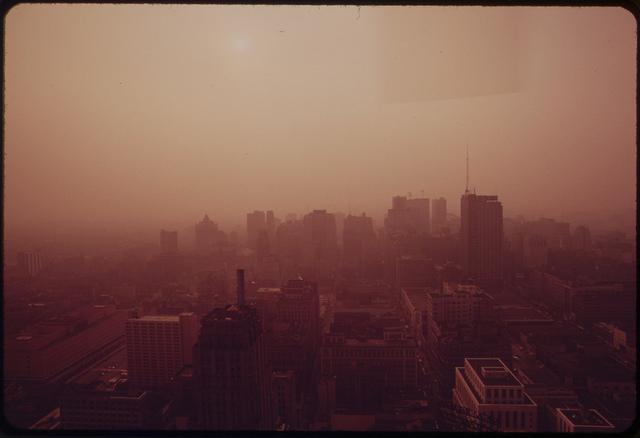 8. Center City Philadelphia at sunset in 1973.