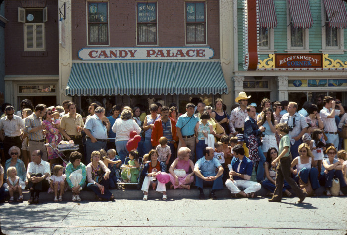 2. Here's how everyone looked in 1975 waiting for the parade at Disneyland. Check out the clothes and hair. We've come a long way!