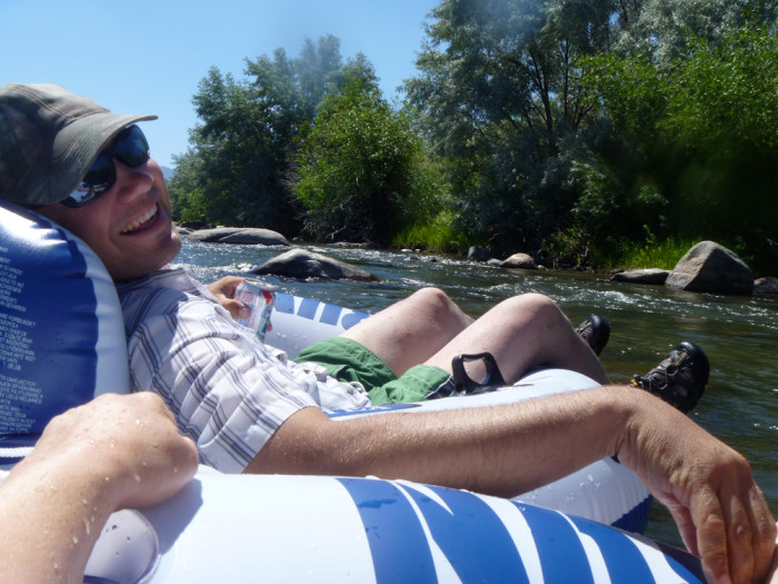 14. Go tubing down the Truckee River.