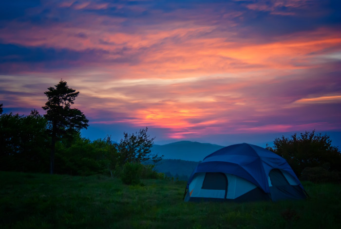 8. Good-morning campsite views in the Blue Ridge Mountains.