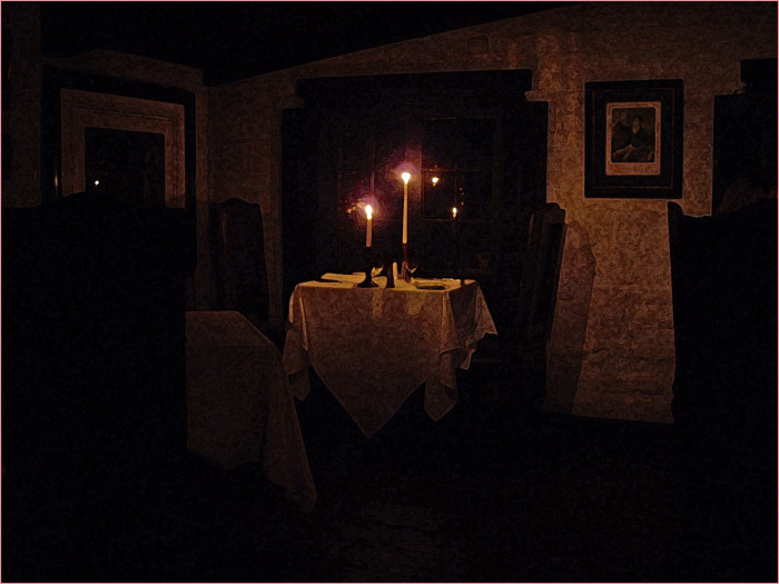 Many believe the downstairs tavern is by far the most haunted area of the old structure.