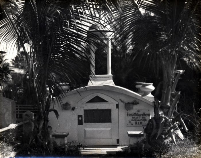 Elena Milagro Hoyos tomb in the Key West City Cemetery C 1940.