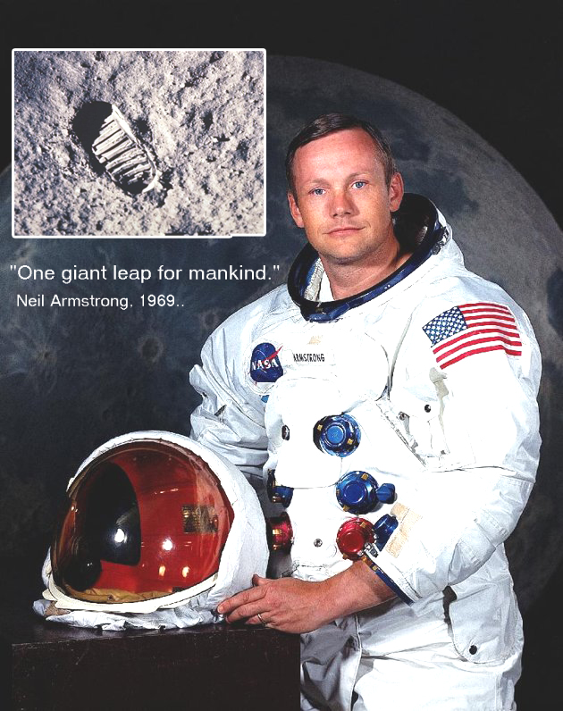 17. The first man on the moon reached out to our state.