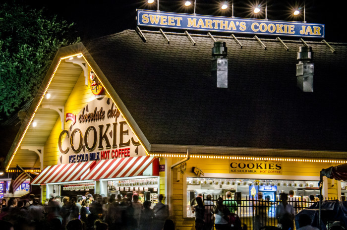 9. Go to the State Fair, AND consume a large bucket of the best cookies.