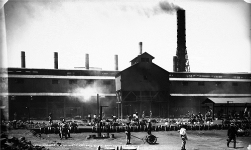 "12. ""El Paso Works - Tapping - Kansas City Smelting Co."""