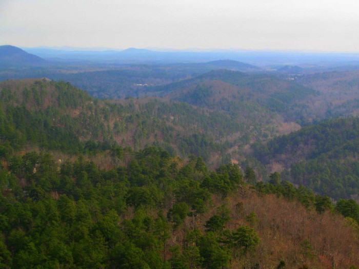 8.The Ouachitas are not to be underestimated as part of the total hot springs experience. Check out this gorgeous view from the Hot Springs Mountain Tower: