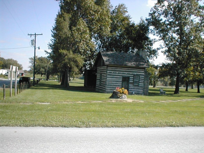 The first log cabin in Jamesport.