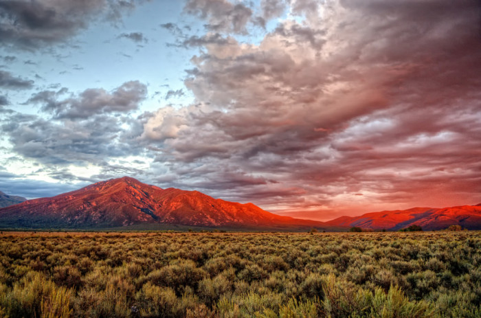 1. We are blessed with soaring mountains and stunning sunsets.