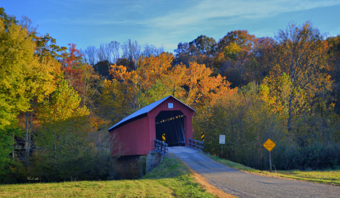 4. Drive through as many covered bridges as possible.