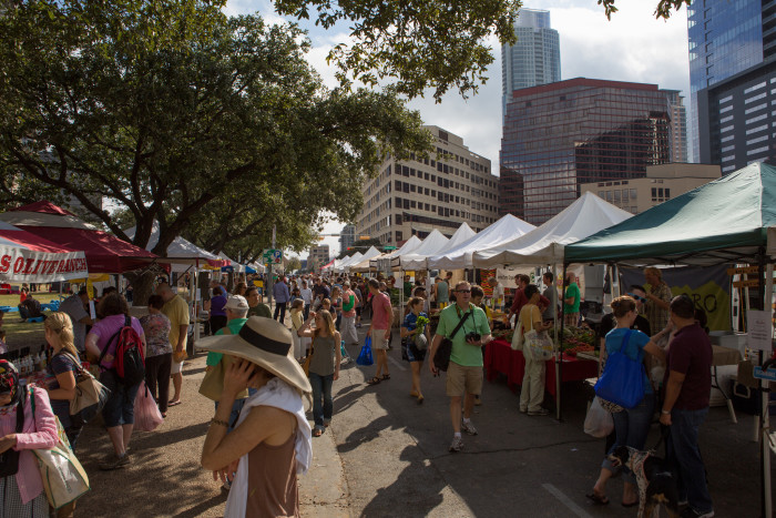 6. There's a farmers market here, there's a farmers market there... there's a farmers market everywhere in Austin!