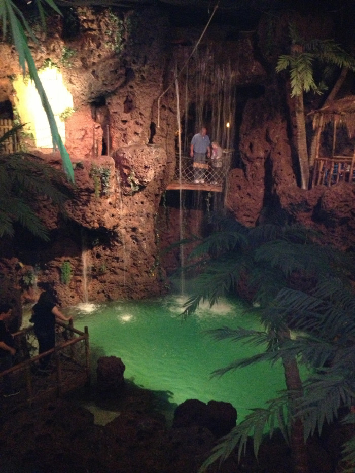 14.) The waterfall at Casa Bonita.