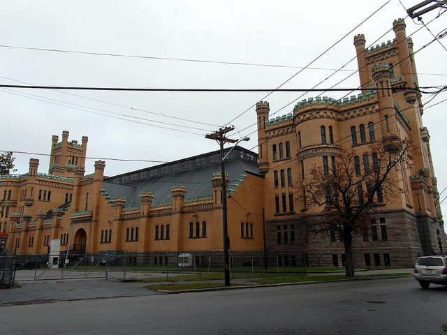 12. Cranston Street Armory, Providence: Built in 1907, this massive building was originally used to house the national guard.